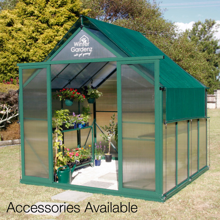 6x10 Greenhouse With 6mm Polycarbonate Standard Height