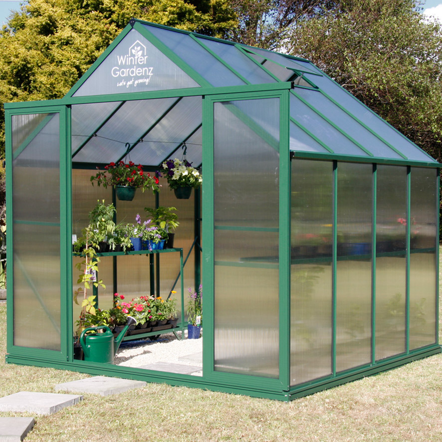 8x10 Greenhouse with 6mm Polycarbonate
