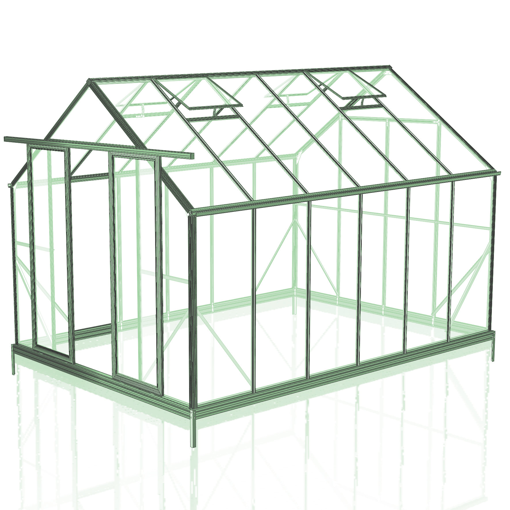 8x12 Greenhouse with 6mm Polycarbonate